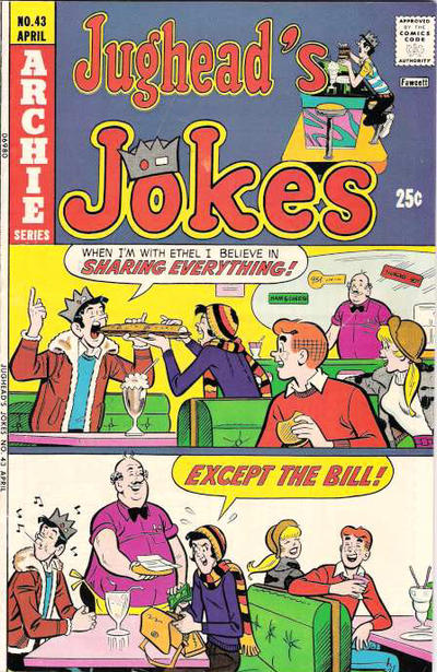 Cover for Jughead's Jokes (Archie, 1967 series) #43