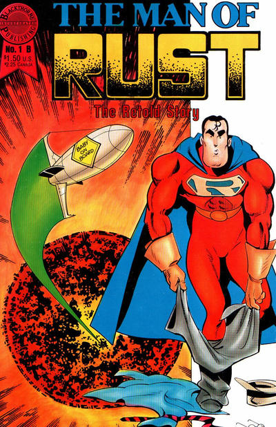 Cover for The Man of Rust (Blackthorne, 1986 series) #1 [Cover B]