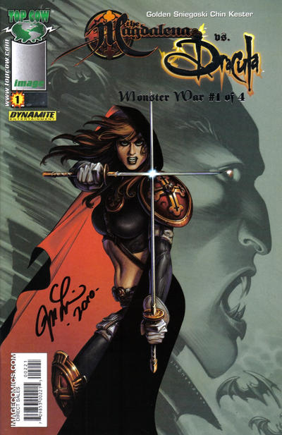 Cover for Magdalena vs. Dracula: Monster War (Image, 2005 series) #1 [Chin Cover]