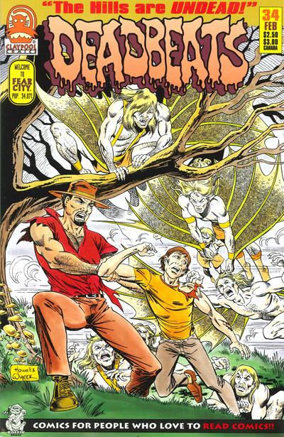 Cover for Deadbeats (Claypool Comics, 1993 series) #34