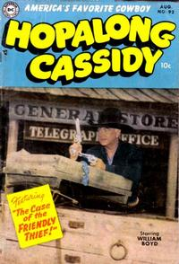 Cover for Hopalong Cassidy (DC, 1954 series) #92