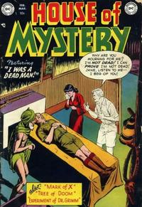 Cover Thumbnail for House of Mystery (DC, 1951 series) #2