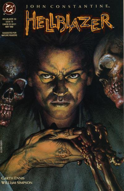 Cover for Hellblazer (DC, 1988 series) #53