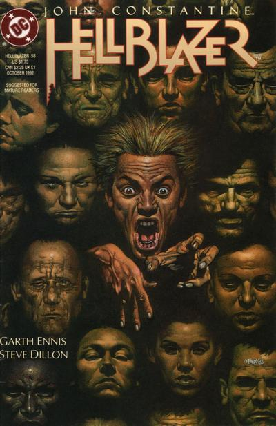 Cover for Hellblazer (DC, 1988 series) #58