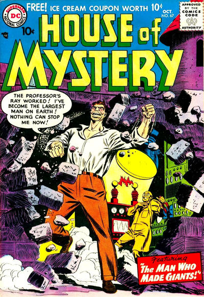 Cover for House of Mystery (DC, 1951 series) #67
