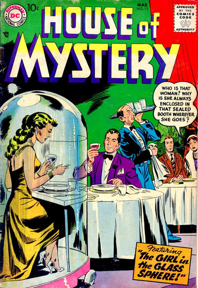 Cover for House of Mystery (DC, 1951 series) #72