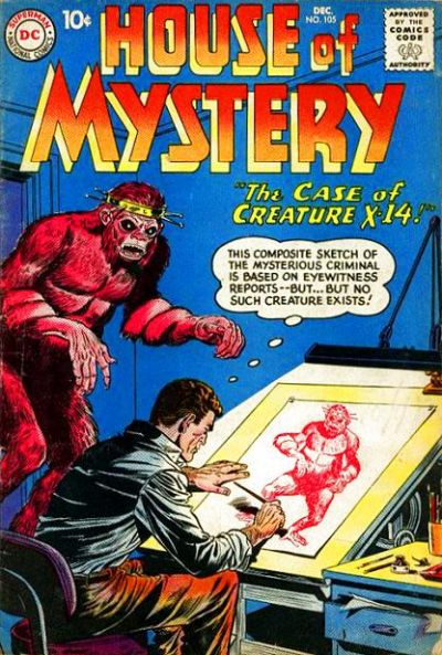 Cover for House of Mystery (DC, 1951 series) #105