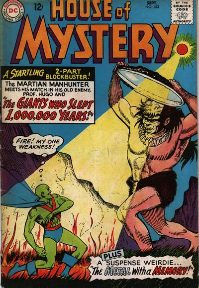 Cover for House of Mystery (DC, 1951 series) #153