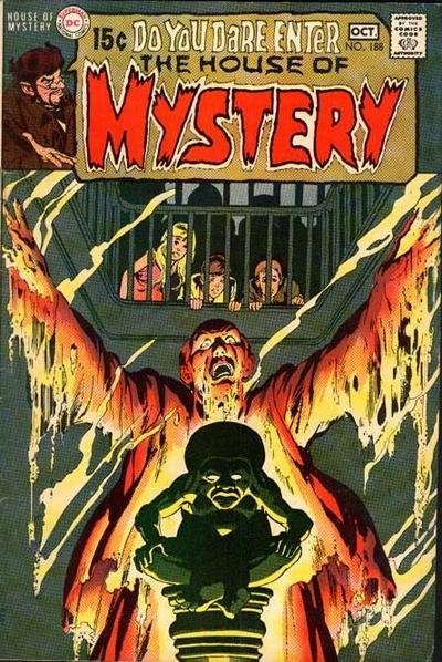Cover for House of Mystery (DC, 1951 series) #188
