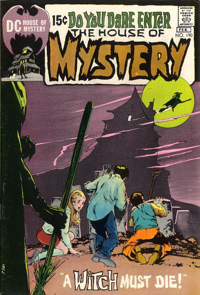 Cover for House of Mystery (DC, 1951 series) #190