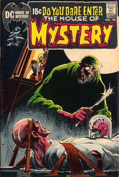 Cover for House of Mystery (DC, 1951 series) #192