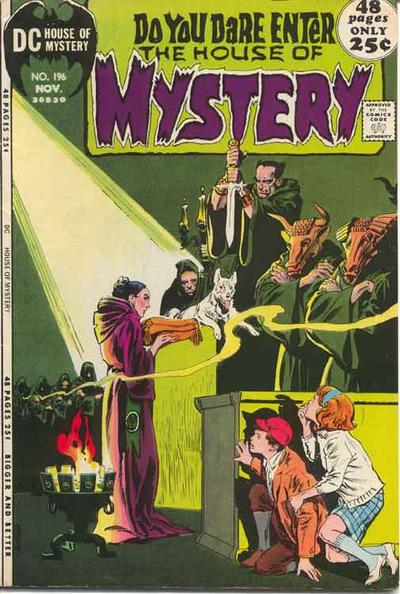Cover for House of Mystery (DC, 1951 series) #196