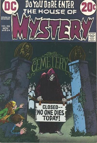 Cover for House of Mystery (DC, 1951 series) #208