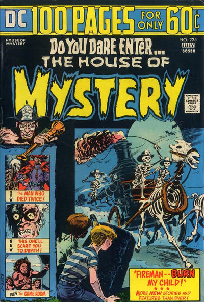 Cover for House of Mystery (DC, 1951 series) #225