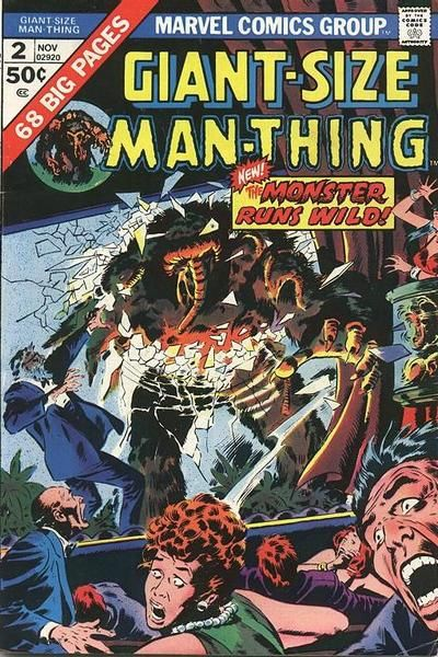 Cover for Giant-Size Man-Thing (Marvel, 1974 series) #2