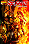 Cover for Red Sonja (Dynamite Entertainment, 2005 series) #2 [Mel Rubi Wraparound Cover]