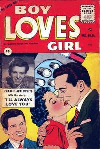 Cover Thumbnail for Boy Loves Girl (Lev Gleason, 1952 series) #55
