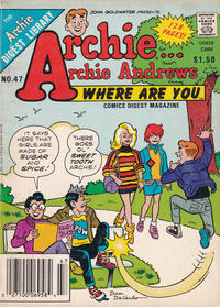 Cover Thumbnail for Archie... Archie Andrews Where Are You? Comics Digest Magazine (Archie, 1977 series) #47
