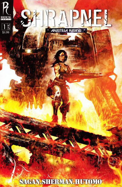 Cover for Shrapnel (Radical Comics, 2009 series) #1 [Cover A]