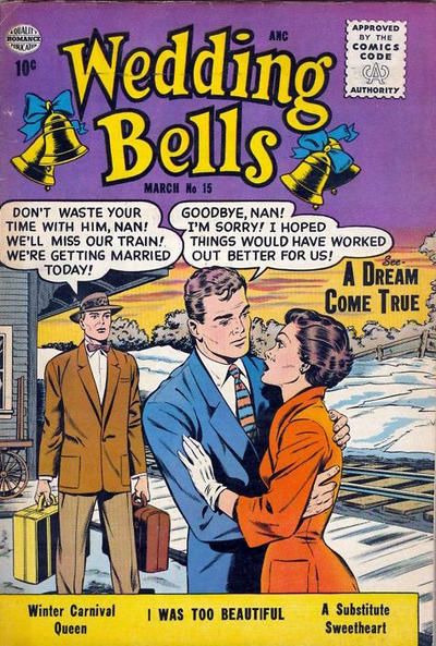 Cover for Wedding Bells (Quality Comics, 1954 series) #15