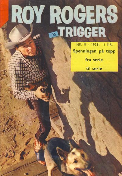 Cover for Roy Rogers (Serieforlaget / Se-Bladene / Stabenfeldt, 1954 series) #8/1958