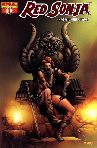 Cover for Red Sonja (Dynamite Entertainment, 2005 series) #1 [Alex Ross Cover]