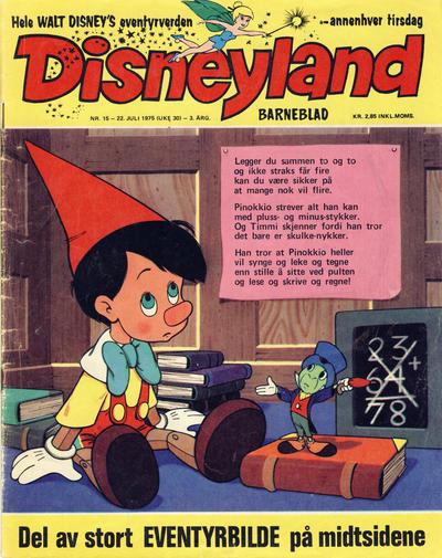 Cover for Disneyland barneblad (Hjemmet / Egmont, 1973 series) #15/1975