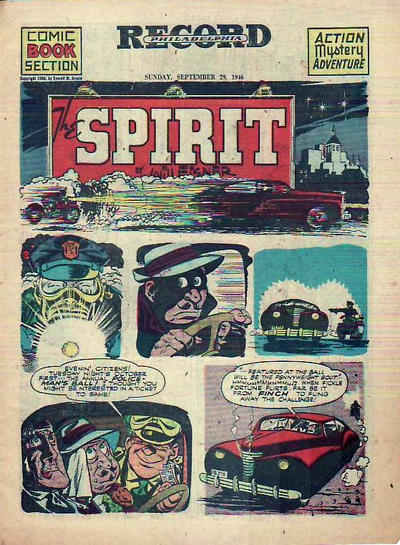 Cover for The Spirit (Register and Tribune Syndicate, 1940 series) #9/29/1946