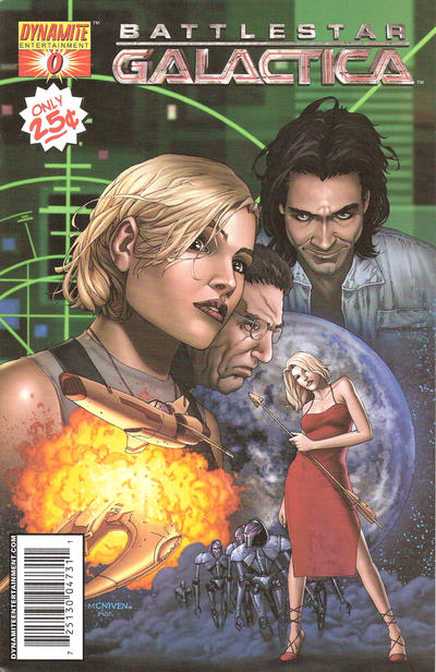 Cover for Battlestar Galactica (Dynamite Entertainment, 2006 series) #0 [Cover A - Steve McNiven art]