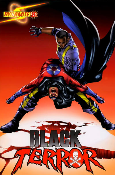 Cover for Black Terror (Dynamite Entertainment, 2008 series) #8 [Jonathan Lau Cover]
