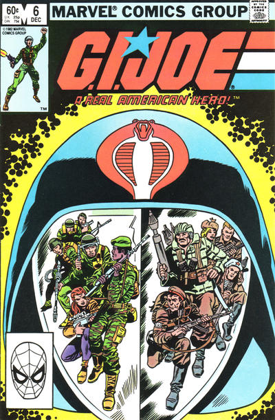 Cover for G.I. Joe, A Real American Hero (Marvel, 1982 series) #6 [Second Print]