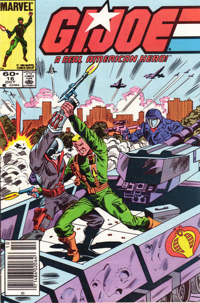 Cover for G.I. Joe, A Real American Hero (Marvel, 1982 series) #16 [Direct Edition]