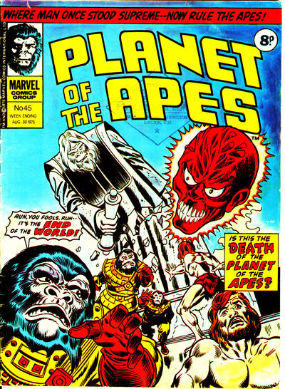 Cover for Planet of the Apes (Marvel UK, 1974 series) #45