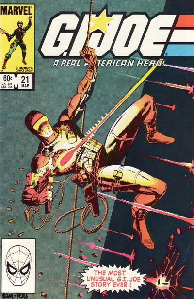 Cover for G.I. Joe, A Real American Hero (Marvel, 1982 series) #21 [Newsstand Edition]