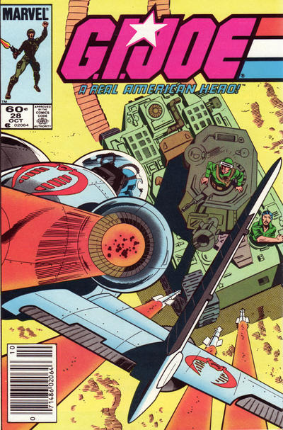 Cover for G.I. Joe, A Real American Hero (Marvel, 1982 series) #28 [Direct Edition]