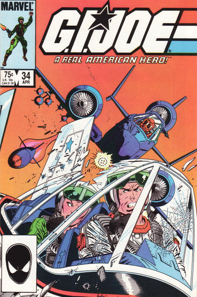 Cover for G.I. Joe, A Real American Hero (Marvel, 1982 series) #34 [Direct Edition]