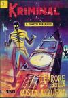 Cover for Kriminal (Editoriale Corno, 1964 series) #2