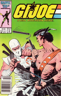 Cover Thumbnail for G.I. Joe, A Real American Hero (Marvel, 1982 series) #52 [Newsstand Edition]