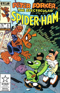Cover Thumbnail for Peter Porker, the Spectacular Spider-Ham (Marvel, 1985 series) #9 [Direct Edition]