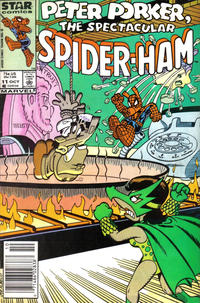 Cover Thumbnail for Peter Porker, the Spectacular Spider-Ham (Marvel, 1985 series) #11 [Newsstand Edition]