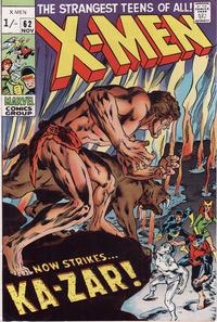 Cover Thumbnail for The X-Men (Marvel, 1963 series) #62 [British price variant]