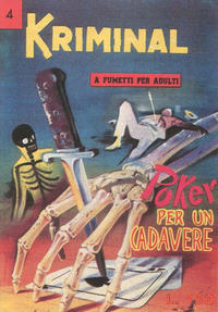 Cover Thumbnail for Kriminal (Editoriale Corno, 1964 series) #4