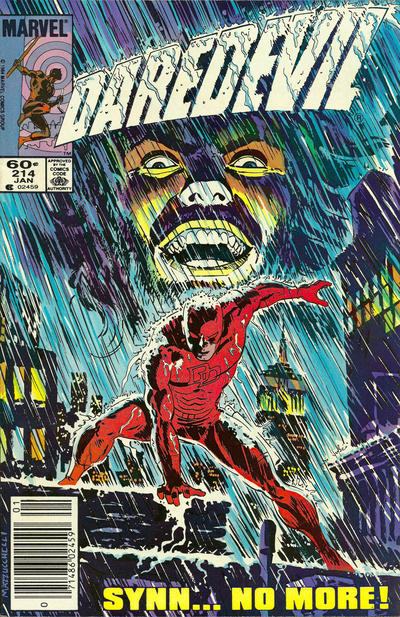 Cover for Daredevil (Marvel, 1964 series) #214 [Direct Edition]