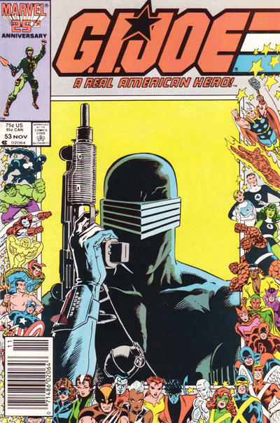 Cover for G.I. Joe, A Real American Hero (Marvel, 1982 series) #53 [Direct Edition]