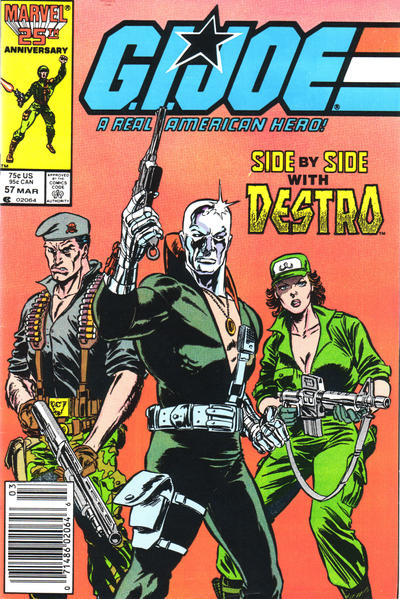 Cover for G.I. Joe, A Real American Hero (Marvel, 1982 series) #57 [Newsstand Edition]