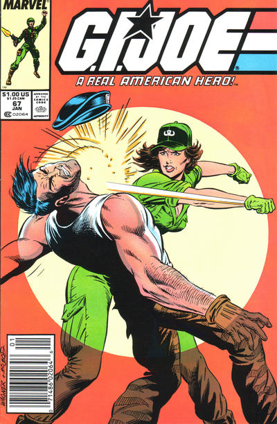 Cover for G.I. Joe, A Real American Hero (Marvel, 1982 series) #67 [Newsstand Edition]