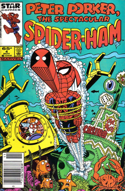 Cover for Peter Porker, the Spectacular Spider-Ham (Marvel, 1985 series) #4 [Direct Edition]