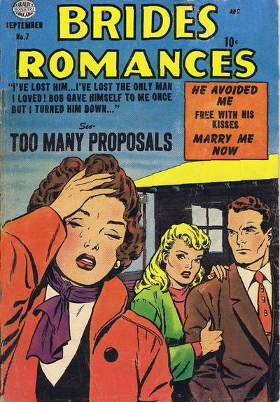 Cover for Brides Romances (Quality Comics, 1953 series) #7