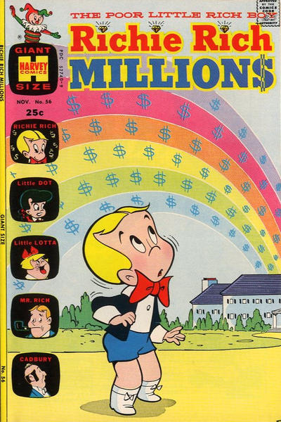 Cover for Richie Rich Millions (Harvey, 1961 series) #56