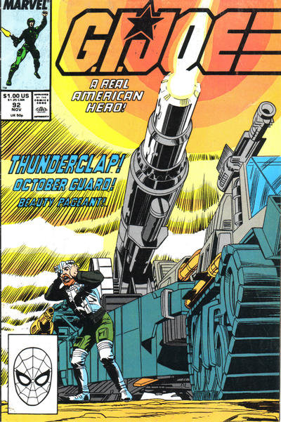 Cover for G.I. Joe, A Real American Hero (Marvel, 1982 series) #92 [Direct Edition]